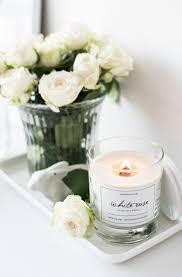 <b>Свеча</b> из соевого воска с деревянным фитилем White Rose | tray ...