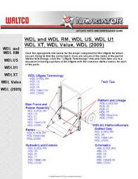 waltco wdl series liftgate by the liftgate parts co issuu page 1
