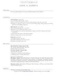 Examples Of A Social Work Resume At Resume Sample Ideas