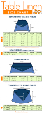 Round Table Linen Chart Table Linen Size Chart Weddingseating Wedding