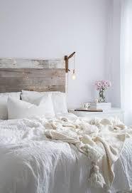 all white bedroom rustic barnwood headboard wwwlindsaymarcellacom bedroom white