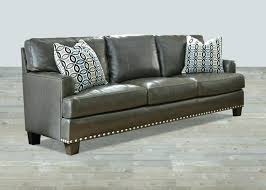 gray sofa with nailhead trim gray sofa sectional with trim top grain leather gray sofa grey