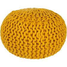 yellow pouf ottoman. Plain Pouf Artistic Weavers Ahanu Mustard Accent Pouf To Yellow Ottoman N