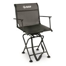 guide gear big boy comfort swivel hunting blind chair with armrests 500 lb capacity