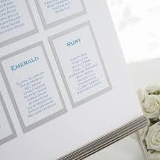 Wedding Table Planner Seating Chart A3 Diy Kit Confetti Co Uk