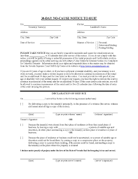 30 day notice to landlord form nevada 30 day no cause notice to quit ez landlord forms