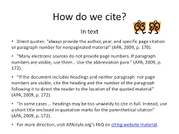 How To Cite A Quote From A Website Custom Cite It Right Advanced