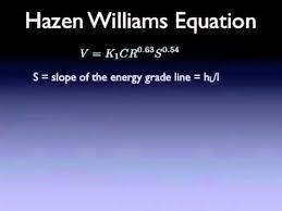 Hazen Williams Formula Pipe Flow Chart 24 Hazen Williams Equation