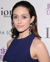 stunning emmy rossum shows off her toned back in y midnight blue