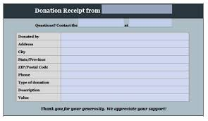 Free Donation Invoice Template Receipt Pdf Word Excel