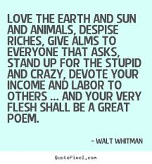 Walt Whitman Picture Quotes QuotePixel Cool Walt Whitman Quotes Love