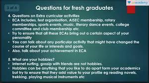 Interview Questions For New Graduates B School Interview Questions For Fresh Graduates How To Answer
