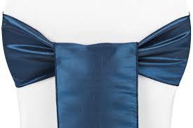 taffeta chair sash tie navy blue