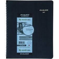 At A Glance Monthly Planner 2019