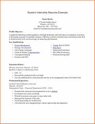 Example Of College Student Resume