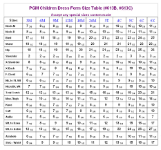 full body measurement chart pgm 613c childrens full body professional dress form 12 18 24mo