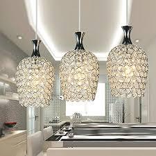 crystal pendant lighting. DINGGU Modern 3 Lights Crystal Pendant Lighting For Kitchen Island And Dining Room Amazoncom N