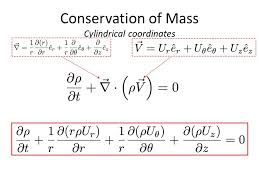 5 conservation of mass special cases steady compressible flow cartesian cylindrical