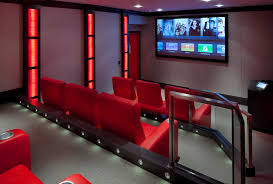 movie room lighting. Basement Movie Theater Ideas Home Contemporary With Red Lights Room Lighting
