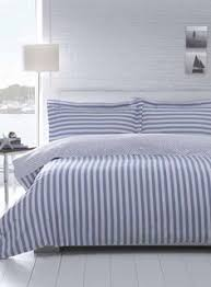 blue and white striped sheets. Delighful White Blue Cotton U0026 Co Cyprus Bedding Set  Bedding Sets Home  Lighting Furniture BHS In And White Striped Sheets P
