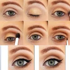 gold bronze smokey eye