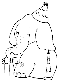 Small Picture Christmas Elephant Coloring Pages Coloring Pages