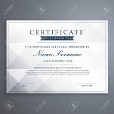 Achievement Certificate Clean White Diploma Or Achievement Certificate Design Template