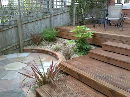 Small Picture Small Garden with Decking Adrian Stoute