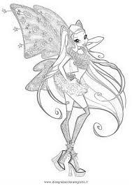 Disegno Winxstellaquarta Serie Personaggio Cartone Animato Da