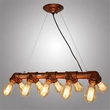 10 head vintage industrial chandelier ceiling pendant light water pipe steampunk