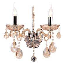 wall mounted candle sconces with crystaesign crystal mount holder 2 light for foyer antique home bar