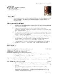 Resume For A Writer Pelosleclaire Com
