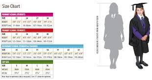 Cap And Gown Measurement Chart Book Your Gown For Collection On The Day Graduation Attire