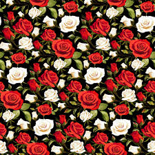 Rose Pattern Custom Seamless Rose Pattern Vector Material 48 Free Download