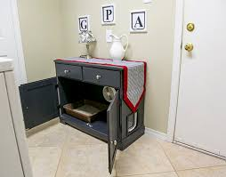Decorative Cat Litter Box Covers Litter Box Cabinet Converting Furniture For Litter Box Todays 17