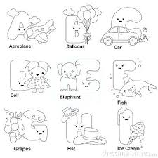Alphabet Coloring Pages Printable Free Letters Of The Alphabet