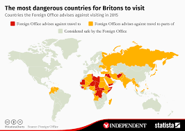 Chart The Most Dangerous Countries For Britons To Visit