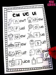Included in your teacher account is access to 220 free phonics worksheets to use as a whole class, a reading rotation activity or homework. Miss Giraffe S Class Ew Ue Ui Activities