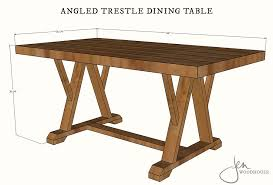 diy angled trestle dining table plans