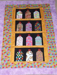 shopgoodwill.com: Handmade Fruit Vegetable Candy in Jars Quilt ... & Candy Mason Jar Crib Lap Wallhanging Cotton Quilt Top Sale | eBay Adamdwight.com