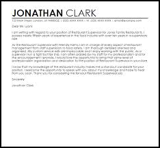 Thank You For Considering Me For This Position Restaurant Supervisor Cover Letter Sample Cover Letter