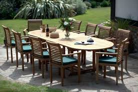 10 seater outdoor dining table and chairs bunnings rattan garden furniture teak set riverside kitchen amazing