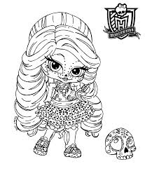 Monster High Coloring Pages Baby
