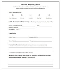 It Incident Report Form 259812800039 Free Incident Report Form