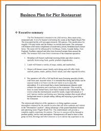 Example Restaurant Business Plan Parts Of Resume Sample Pdf Free