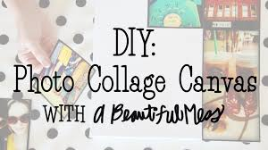 Diy Canvas Diy Photo Collage Canvas With A Beautiful Mess Youtube