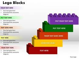 five steps of building blocks business success powerpoint diagram