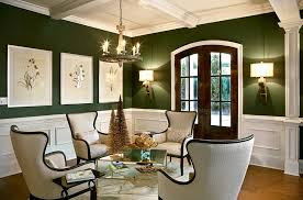 View in gallery A living room that seems perfect for the holiday season  ahead! [Design: LGB