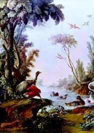 oil paintings nature landscape stock photo
