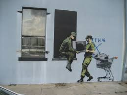 banksy looters 2008 as photographed in new orleans in 2008 photo via wikipedia commons